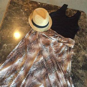Maxi Leopard skirt